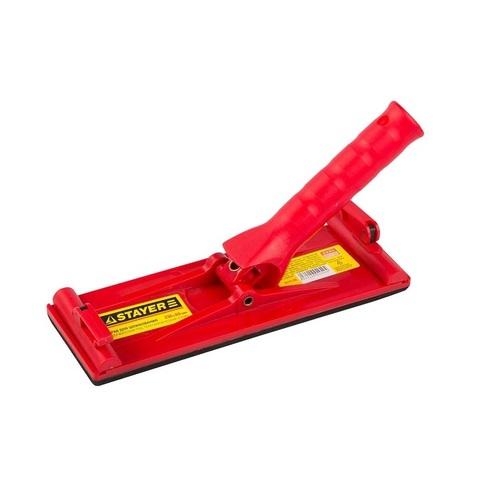 Терка STAYER для шлифования с держателем под телескопическую ручку, 230x80мм