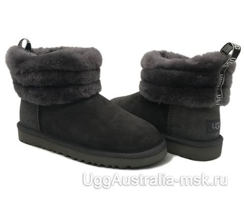 UGG Classic Mini Fluff Quilted Boot Grey