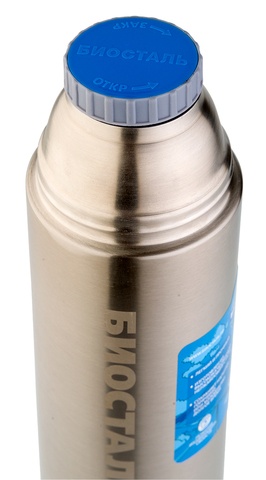 Термос Biostal Авто (1,2 литра) с термочехлом, стальной
