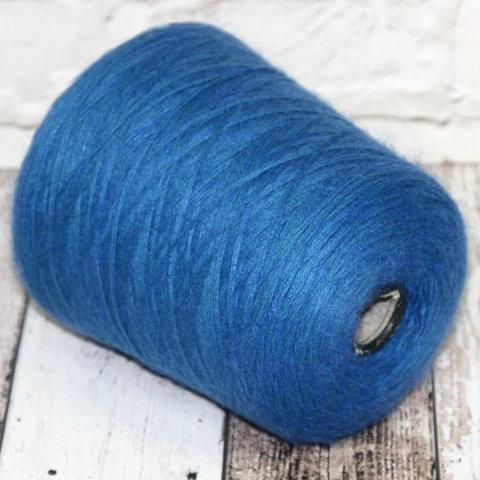 Смотка меринос с мохером 375 бирюзово-голубой