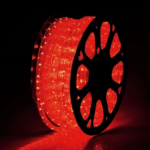 дюралайт цена за метр красного шланга лед LED 50 м