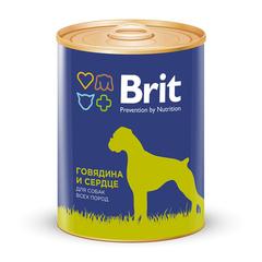 Brit Premium BEEF&HEARТ Говядина и сердце, консервы для собак, 850г