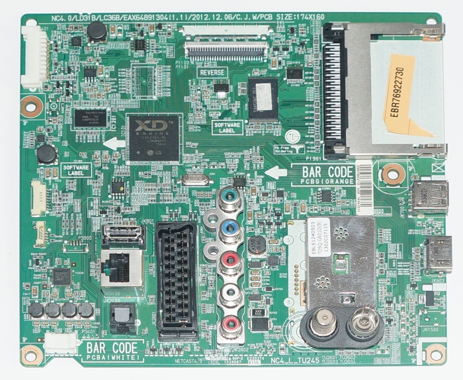 EAX64891304(1.1) EBR76922710 mainboard телевизора LG