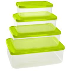 Набор контейнеров д/прод Vitamino/Amore прямоуг. 0,5л+1л+1,5л+2,5л(GR1857)