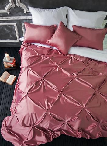 Комплект штор и покрывало Габриэль розовый