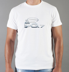 Футболка с принтом Ауди Q7 (Audi Q7) белая 0045