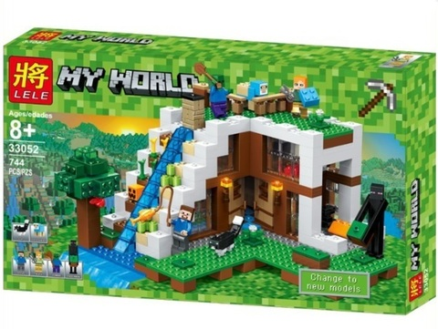 Конструктор Lele My World 33052 База на водопаде