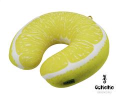 Подушка-подголовник «Лимон» 2