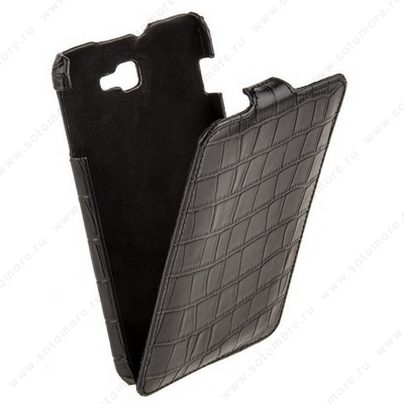 Чехол-флип Melkco для Samsung Galaxy Note N7000 Leather Case Jacka Type (Crocodile Print Pattern - Black)