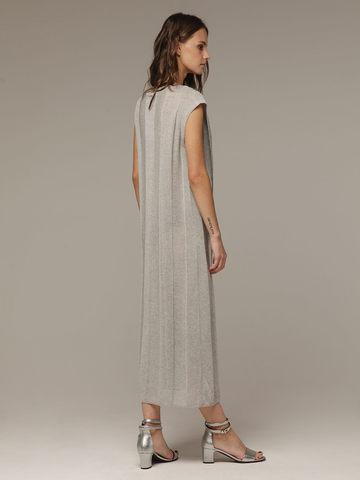 Женское платье миди серого цвета - фото 3