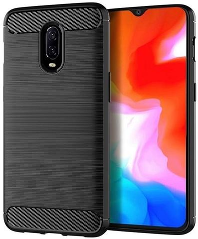 Чехол OnePlus 6T цвет Black (черный), серия Carbon, Caseport