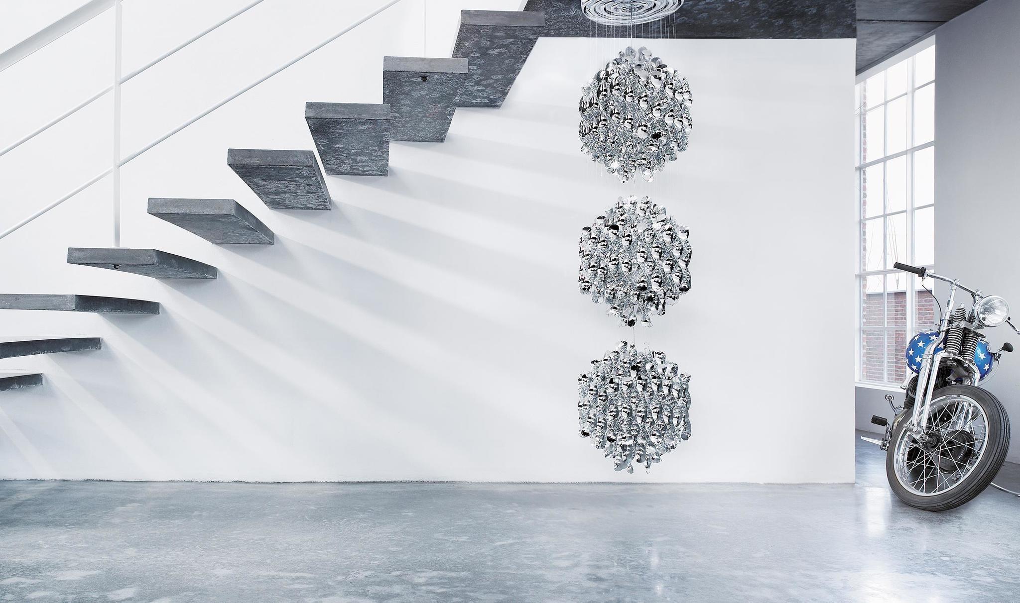 Подвесной светильник копия Spiral SP03 by Verpan Panton (серебряный)