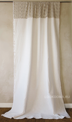 Готовая штора  Телеграм натуральный лен