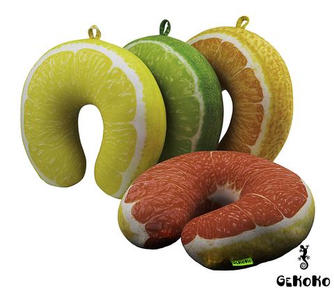 Подушка-подголовник «Лимон» 3