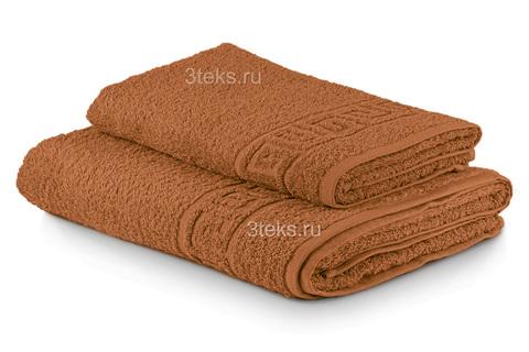 Полотенце махровое гладкокрашеное (Ореховый)