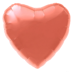 Шар сердце коралловый
