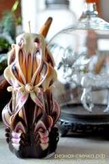 Резная свеча Молочный шоколад