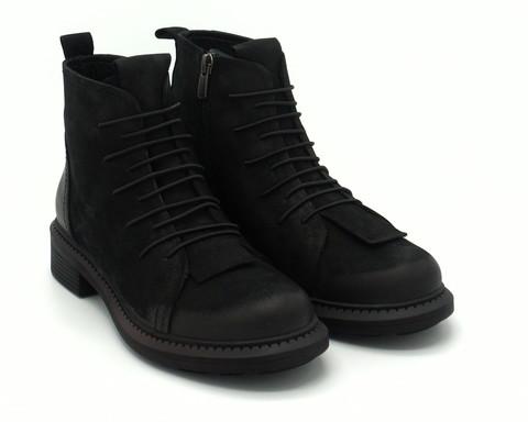 Ботинки из нат.нубука на замке