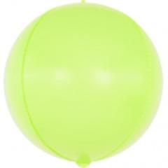Шар (24''/61 см) Сфера 3D, Макарунс, Лайм, 1 шт.