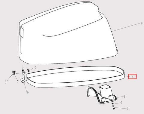 Уплотнитель капота 1290мм для лодочного мотора F9.8 Sea-PRO (1-4)