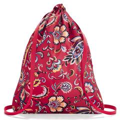 Рюкзак складной Mini maxi sacpack paisley ruby Reisenthel