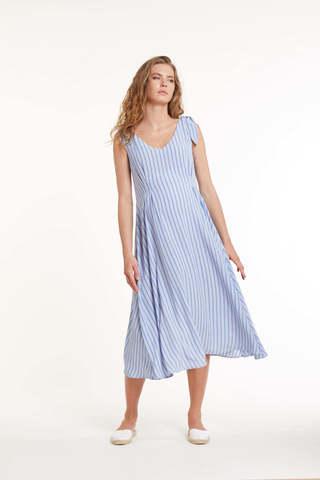 Платье для беременных 11451 голубая полоска
