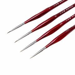 Набор контурных кистей из колонка LIUPINTANG, 4 шт., короткая фигурная ручка