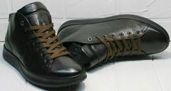 Весенние ботинки кроссовки для повседневной носки мужские Ikoc 1770-5 B-Brown.
