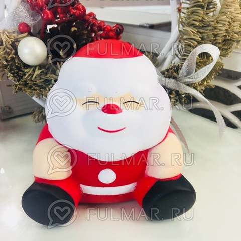 Сквиши Дед Мороз большой игрушка антистресс