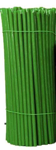 Свечи №20 восковые, зеленые
