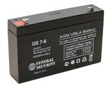 Аккумулятор General Security GS 7-6 ( GS6-7.0 ) ( 6V 7Ah / 6В 7Ач ) - фотография