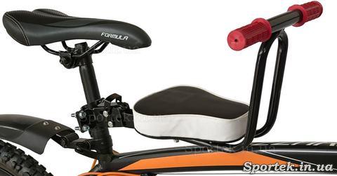 Дитяче велосипедне сидіння спереду на підсідельний штир