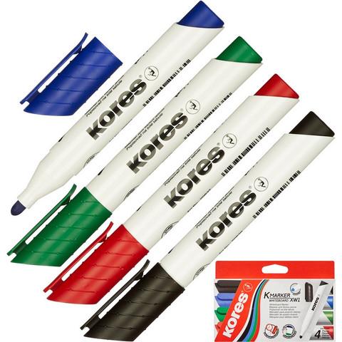 Набор маркеров для досок KORES 3мм 4шт/уп ?20843