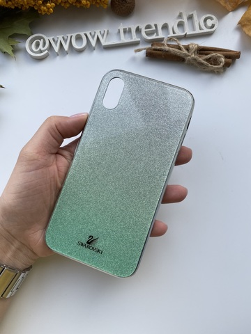 Чехол iPhone  XS Max Swarovski Case /green/