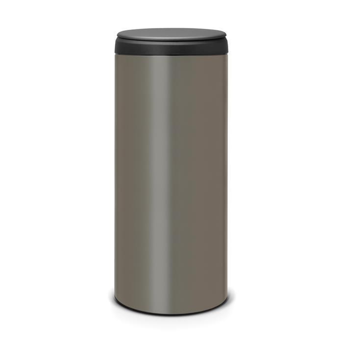 Мусорный бак Flip Bin (30 л), Платиновый, арт. 130144 - фото 1