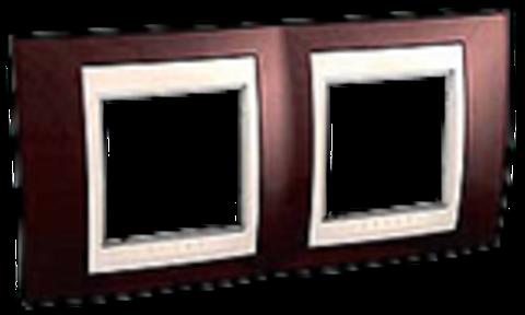 Рамка на 2 поста. Цвет Терракотовый/Бежевый. Schneider electric Unica Хамелеон. MGU6.004.551