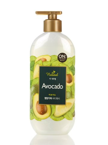 Гель для душа  ON: the body The Natural  Avocado body wash 500мл