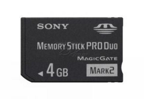 PSP Карта памяти 4Gb Memory Stick PRO DUO