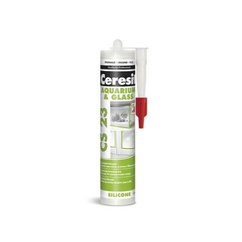 Ceresit CS 23 AQUARIUM & GLASS/Церезит ЦС 23 АКВАРИУМ ЭНД ГЛАСС силиконовый герметик для стекла