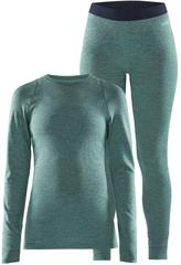 Тёплый Комплект термобелья с шерстью мериноса CRAFT Merino Wool 180 Paradise Melange женский