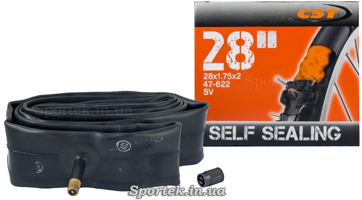 Велокамера CST с антипрокольной защитой 28 дюймов