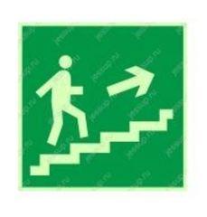 """Фотолюминесцентный знак Е15 """"Направление к эвакуационному выходу по лестнице вверх"""" (правосторонний)"""
