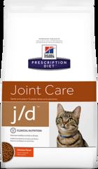 Ветеринарный корм для кошек, Hill`s Prescription Diet  j/d Joint Care, для здоровья суставов, с курицей