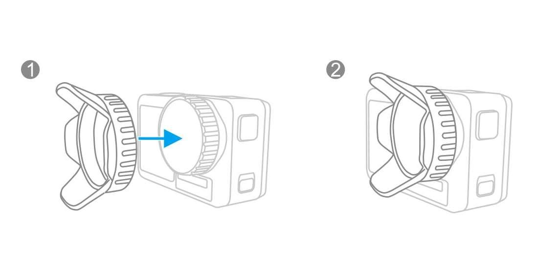 Бленда PGYTECH OSMO ACTION Lens Hood P-11B-016 как надевать