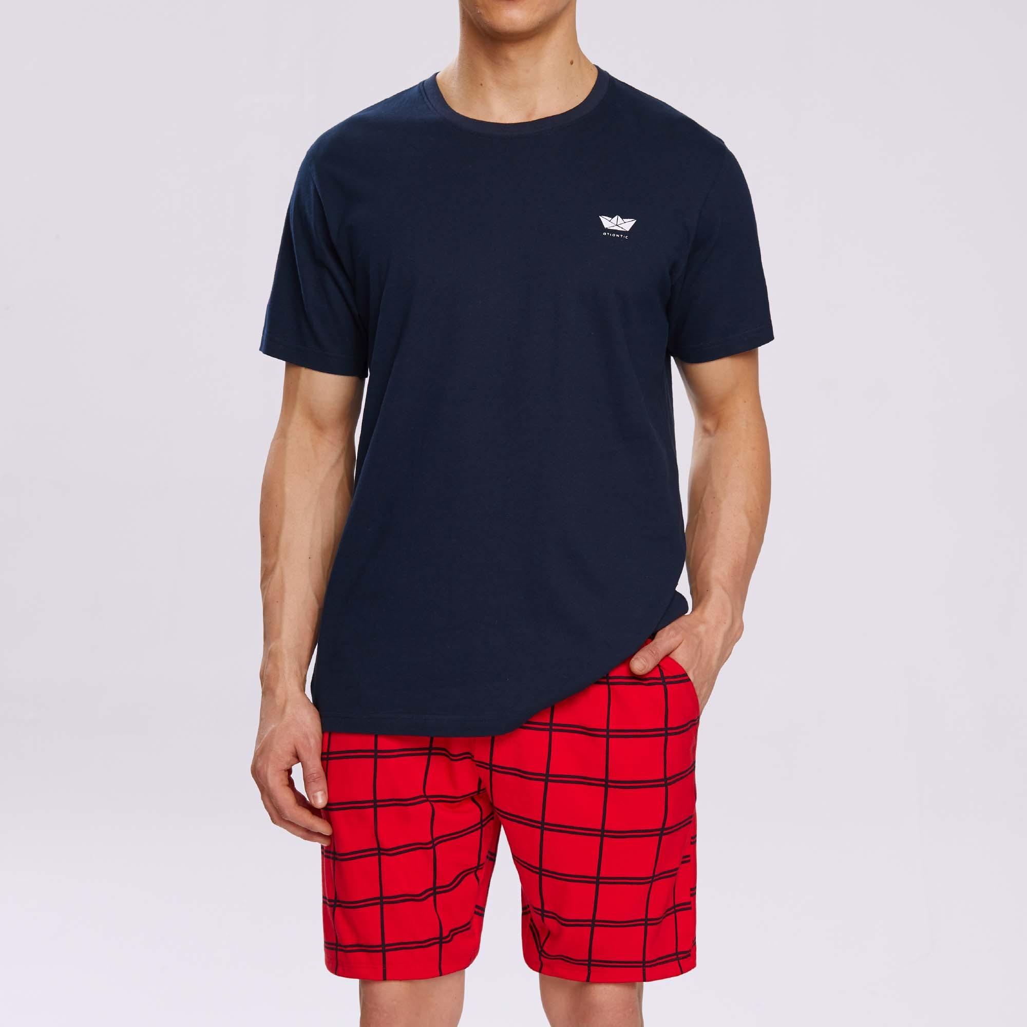 Пижама мужская с шортами NMP-313
