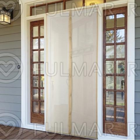 Москитная сетка на балконную и входную дверь на магнитах  100x210 см Бежевая