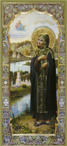 Икона святая Анна Кашинская на дереве на левкасе мастерская Иконный Дом