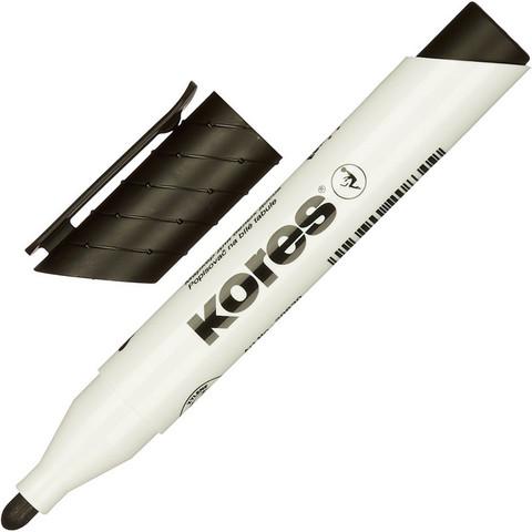 Маркер для досок KORES чёрный 3 мм круглый наконечник ?20830