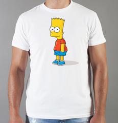 Футболка с принтом мультфильма Симпсоны (The Simpsons) белая 0011