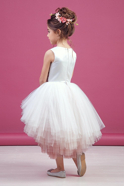 Платье пудровое для девочки 38-9009-1